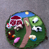Crochet Toy Farm Set with 6 Animals