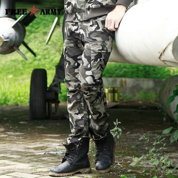 2018 Autumn Casual Men Classic Army Combat Cargo Camo Pants Cotton Pocket Long Male Camouflage Military Trousers Plus Size 29-40