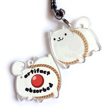 Annoying Dog Acrylic Charm - Reversible & Double-Sided Undertale Keychain