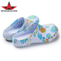 CoolFar Hot 2017 High Quality print doctor Fashion Clogs Sandal nurse Medical slippers summer Foot protection Surgical Shoes