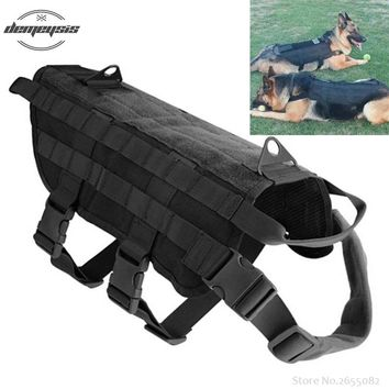 K9 Tactical Military 1000D Nylon Molle System Dog Training Dog Harness Hunting Dog Vest Clothes S-XL