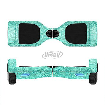 The Teal Leaf Laced Pattern Full-Body Skin Set for the Smart Drifting SuperCharged iiRov HoverBoard