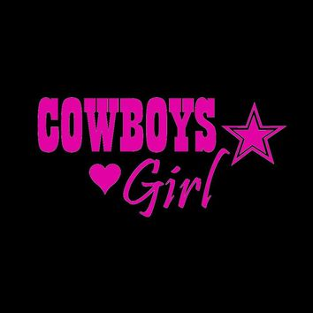 Cowboys Girl  Hand Vinyl Sticker Decal Car Truck Windon Wall Laptop notebook