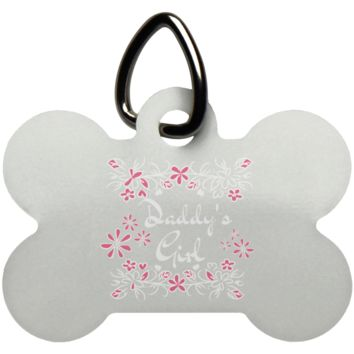 14 daddys girl UN5771 Dog Bone Pet Tag
