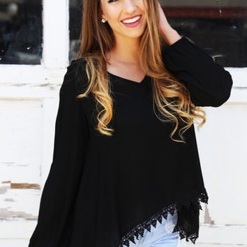 Black Out Lace Oversized Tunic