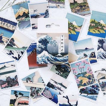 45pcs/box Japanese View Label Stickers Set Decorative Stationery Stickers Scrapbooking Diy Diary Album Stick Label
