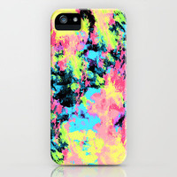 Blacklight Neon Swirl iPhone Case by Caleb Troy