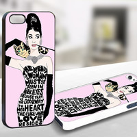 Audrey Hepburn Pinky Quotes - WDC003 - Print On Hard Cover For iPhone 5