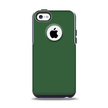 The Solid Hunter Green Apple iPhone 5c Otterbox Commuter Case Skin Set