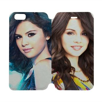 SELENA GOMEZ Wallet Case for iPhone 4/4S 5/5S/SE 5C 6/6S Plus Samsung Galaxy S4 S5 S6 Edge Note 3 4 5