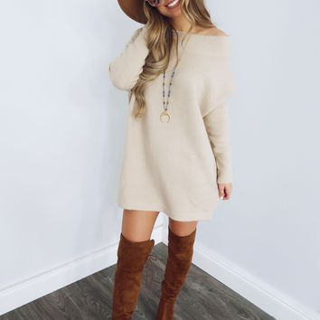 A Thousand Words Dress: Beige