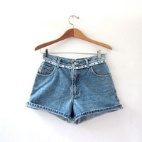 vintage denim shorts / Bum Jean shorts / roll up denim shorts