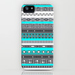 Ice Mint Blue Grey Aztec Pattern iPhone iPhone & iPod Case by RexLambo