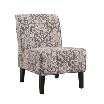 Coco Accent Chair - Gray Damask