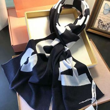 """Acne Studio"" Fashionable Women Men Cashmere Cape Scarf Scarves Shawl Accessories"