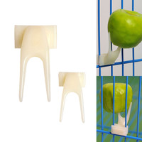 Hot Sale pet parrot Fruit fork birds set on the cage convenient feeder supplies device 2 PCs /LOT a15