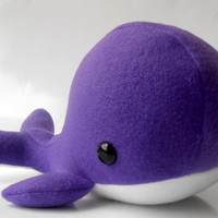 Purple Whale Plush