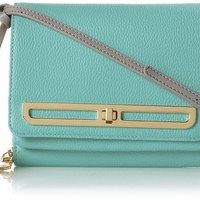 Vince Camuto Anika Small Cross Body,Aruba Blue/Gray,One Size