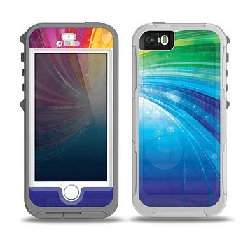 The Rainbow Hd Waves Skin for the iPhone 5-5s OtterBox Preserver WaterProof Case