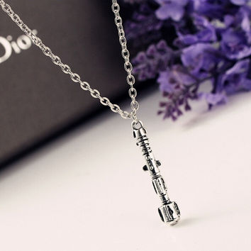 Hot Sell Fashion 3D Doctor  TARDIS Sonic Screwdriver Universal Pendant Necklace Jewelry = 1945932420
