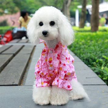 Eternal Love Puffy Flared Shirt for Dog Fashion & Apparel Pet Clothing SIZE 8: Eternal Love Puffy Flared Shirt for Dog Fashion & Apparel Pet Clothing SIZE 8-Color Pink