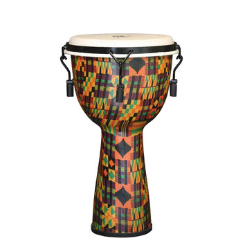X8 Drums Kente Cloth Djembe, Key Tuned, Synthetic Head, Small