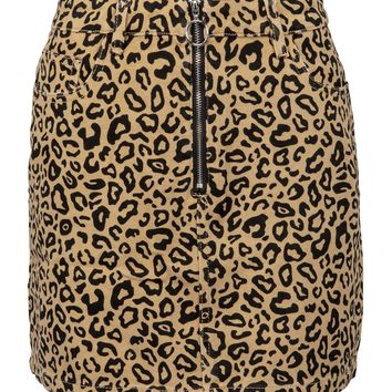 Born to be Wild Leopard Mini Skirt with Zipper Detailing