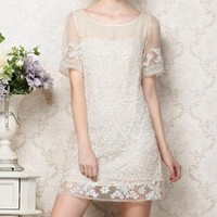 Embroidery lace dress from DeluxeFashion