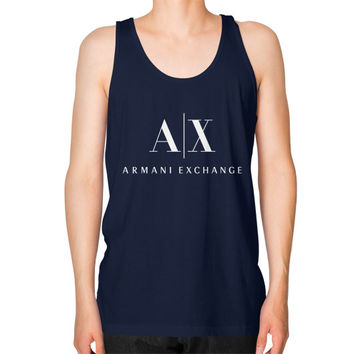 Armani Exchange Unisex Fine Jersey Tank (on man)