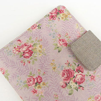 Kindle Cover Kindle Fire Cover Nook Simple Touch Cover iPad Mini Cover Kobo Cover Case Lavender Pink Roses Romantic Floral Flowers eReader