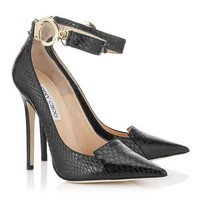 Jimmy Choo Women Fashion Snake Print Heels Shoes
