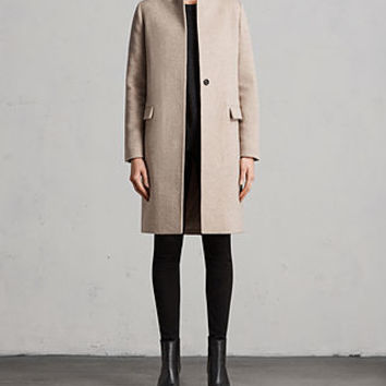 ALLSAINTS US: Womens Evelyn Comet Coat (OATMEAL BROWN)