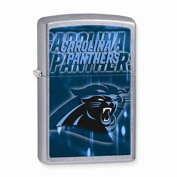 Zippo Carolina Panthers High Polish Chrome Lighter - Engravable Gift Item
