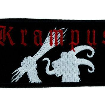 ac spbest Evil Christmas Krampus Patch Iron on Applique Occult Clothing Cult Horror Movie