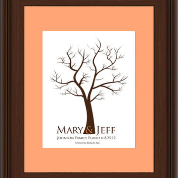 WEDDING TREE guest book, fingerprint tree guest book, fingerprint guest tree, Thumbprint guestbook, Wedding Tree, Love Birds, 16x20 num.112
