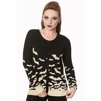 Flying bats Knit sweater Cardigan