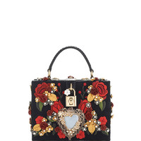 Sacred Heart And Carnation Embroidered Box Bag by Dolce & Gabbana - Moda Operandi