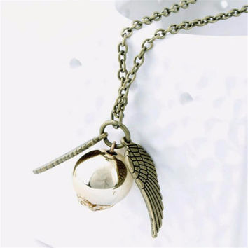 Golden Snitch Charm Necklace