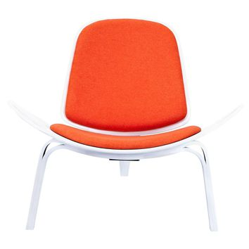 Shell Chair Retro Orange