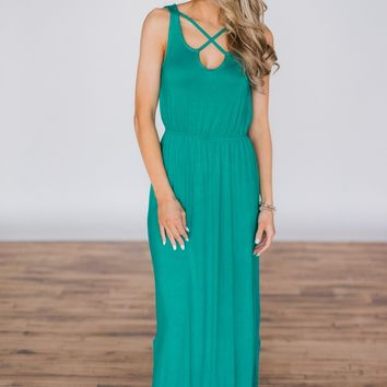 Summer's Must Have Maxi Dress - Teal