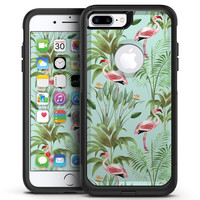 The Tropical Flamingo Scene  - iPhone 7 or 7 Plus Commuter Case Skin Kit