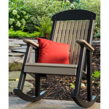 LuxCraft Classic Highback Recycled Plastic Rocking Chair