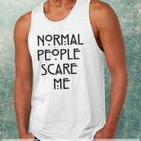 Normal People Scare Me American Horror Story Clothing Tank Top For Mens