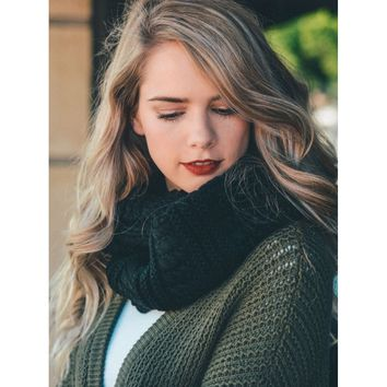 Ultrasoft Charcoal Chunky Infinity Scarf