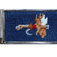 Fishing Fly Needlepoint Money Clip by Smathers & Branson