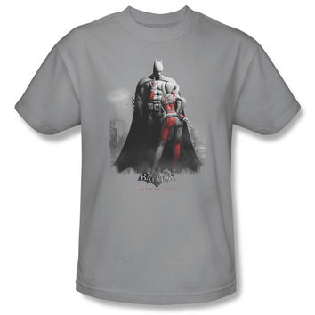 Arkham City Harley Quinn Scolding Batman Mens T-Shirt