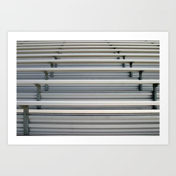Bleachers Art Print by Henrik Lehnerer