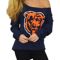 Chicago Bears Off Shoulder Sweater | SportyThreads.com