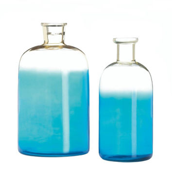 Blue Bottle Vase Set