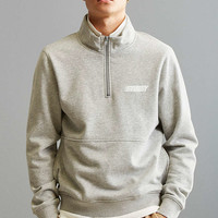 Stussy Nylon Panel Mock Neck Sweatshirt - Urban Outfitters